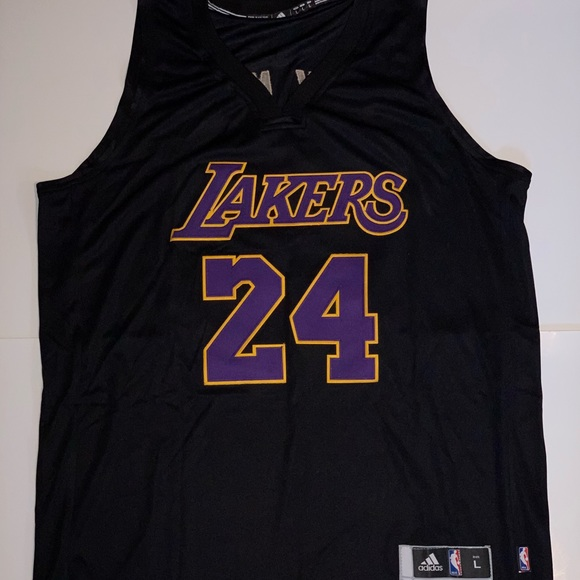 85cd379e7 Kobe Bryant Custom Black Mamba Lakers Jersey  24